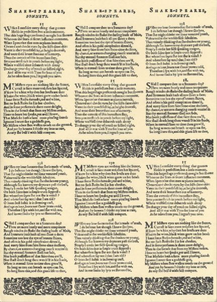 A4 Crafthouse Press Shakespeares Sonnets